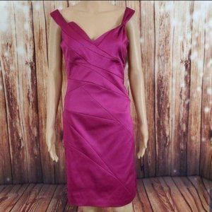 Max And Cleo Dress 6 Pink Satin